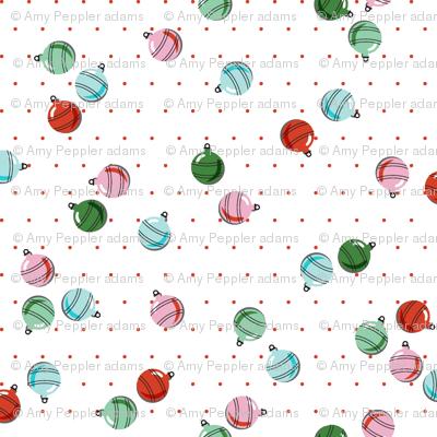 'Tis the Season* (Red Polka Dots) || vintage christmas ornament ornaments holiday tree decorations glass balls