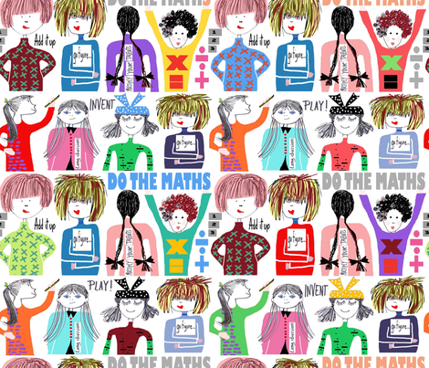 Figure it out! fabric by abstracthands on Spoonflower - custom fabric