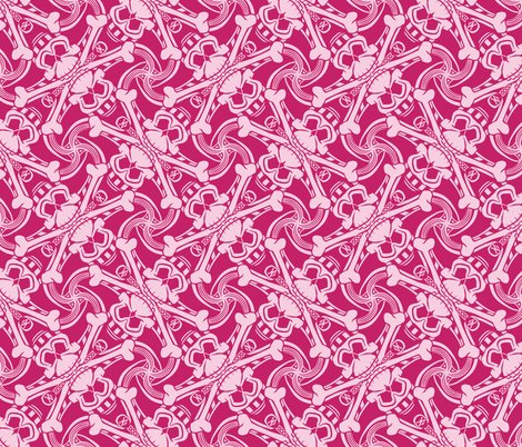 Rpink-skull-crossbones-plaid-pirate-for-kids-punk-print-fabric-and-wallpaper-by-borderlines-original-and-rock-n-roll-textile-design_shop_preview