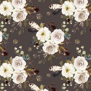 "4"" Autumn Harvest Flowers - Brown"