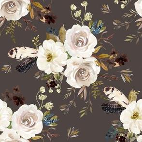 "8"" Autumn Harvest Flowers - Brown"