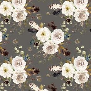 "4"" Autumn Harvest Flowers - Grey"