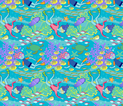 Oceanographer fabric by lily_studio on Spoonflower - custom fabric