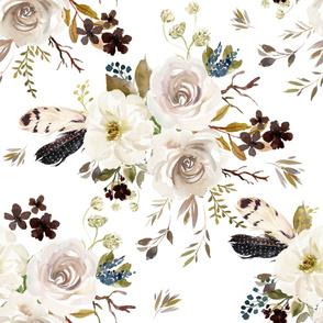 "36"" Autumn Harvest Flowers - White"