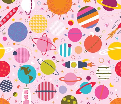Rocket Science fabric by katerhees on Spoonflower - custom fabric