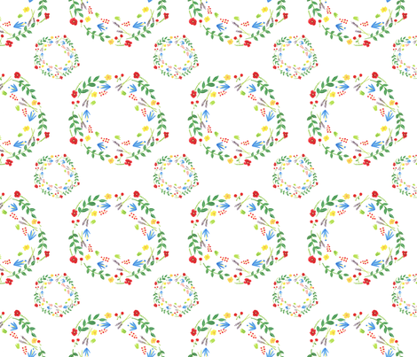 princess floral crown fabric by cocon_zakka on Spoonflower - custom fabric