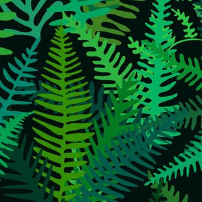Fern Forest in Emerald Green