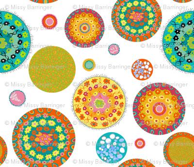 Petri Dish Microbiology Polka Dots