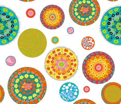 Petri Dish Microbiology Polka Dots fabric by goatfeatherfarm on Spoonflower - custom fabric