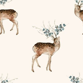 "8"" Woodland Fairytale Deer - Ivory"