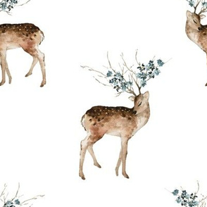 "8"" Woodland Fairytale Deer - White"