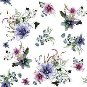"""8"""" Woodland Fairytale Florals - White"""