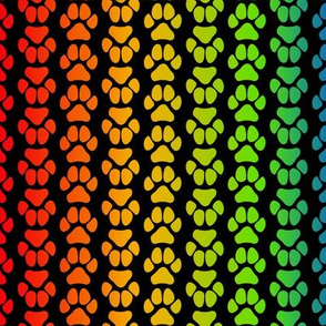 Rainbow Paw Print Large