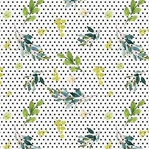 "4"" Pink Lemonade Leaves - Black Polka Dots"