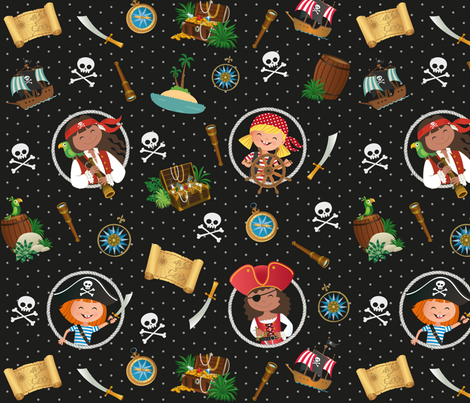 PIRATE GIRLS fabric by crixtina on Spoonflower - custom fabric