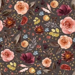 """8"""" Boone Fall Florals - Brown"""