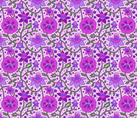 wallflowers 2 6x6 fabric by leroyj on Spoonflower - custom fabric