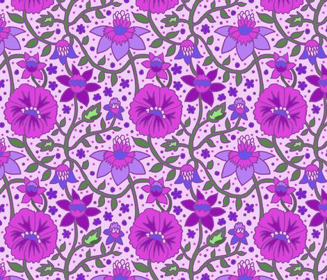 wallflowers 2 fabric by leroyj on Spoonflower - custom fabric