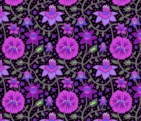 wallflowers 5 fabric by leroyj on Spoonflower - custom fabric