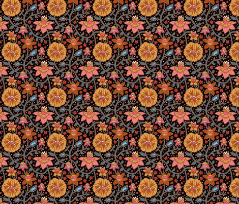 wallflowers 6 4X4 fabric by leroyj on Spoonflower - custom fabric