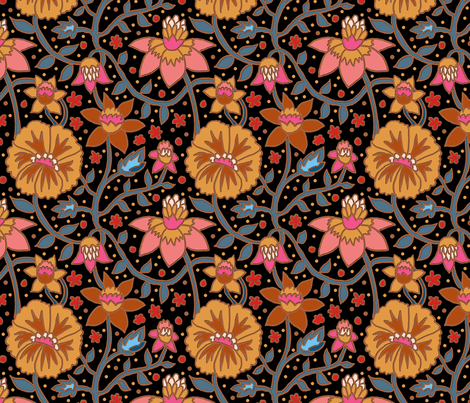 wallflowers 6 fabric by leroyj on Spoonflower - custom fabric