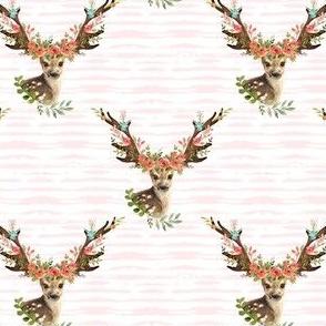 "4"" Woodland Dreams Deer - Blush Stripes"
