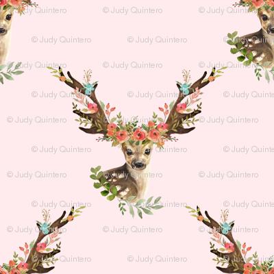 "8"" Woodland Dreams Deer - Blush"