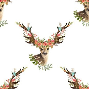 "8"" Woodland Dreams Deer - White"