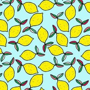 """4"""" Summer Lemons - Aqua"""