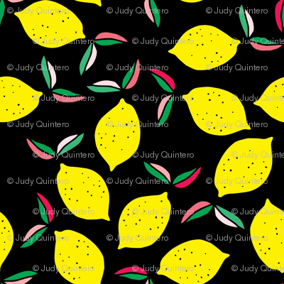 "4"" Summer Lemons - Black"