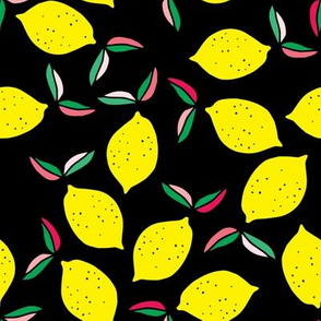 "8"" Summer Lemons - Black"