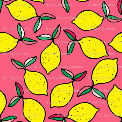 "4"" Summer Lemons - Bright Pink"