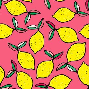 "8"" Summer Lemons - Bright Pink"