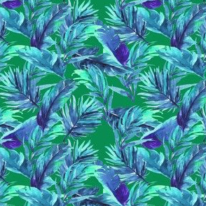 "4"" Aqua Leaves - Green"