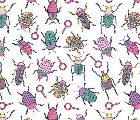 Insectigator fabric by julesmooredesign on Spoonflower - custom fabric