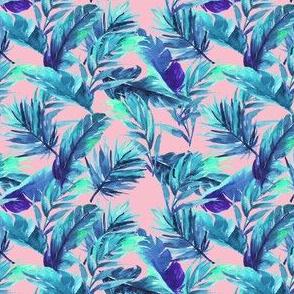 """4"""" Aqua Leaves - Pink"""