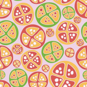 Abstract fruit slices