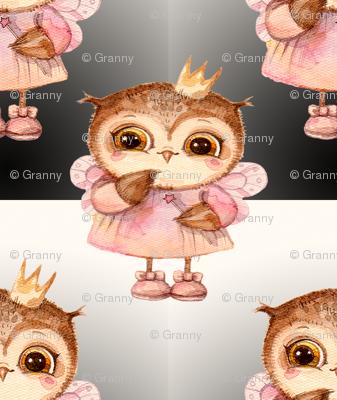 cute Owl princess gradient
