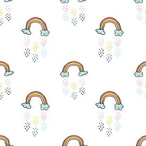 "3"" Smiling Rainbow - White"
