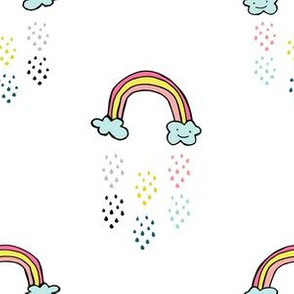 "6"" Smiling Rainbow - White"