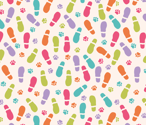 Childhood friends seamless pattern fabric by pillowfighter on Spoonflower - custom fabric