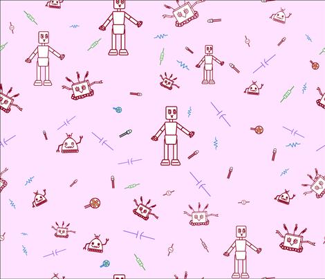 Princess Electronica fabric by alohajean on Spoonflower - custom fabric