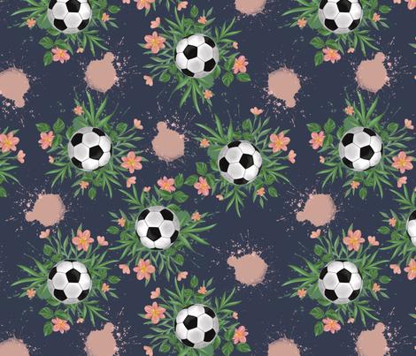 Tropical football fabric by ellila on Spoonflower - custom fabric