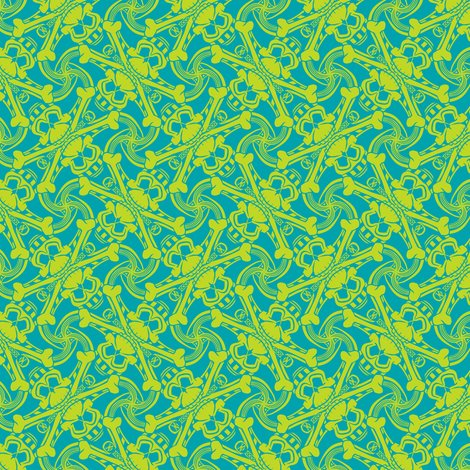 Rteal-blue-lime-green-skull-crossbones-plaid-pirate-for-kids-punk-print-fabric-and-wallpaper-by-borderlines-original-and-rock-n-roll-textile-design_shop_preview
