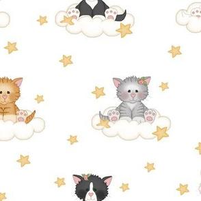 Cat Kitten Cloud Star Nursery