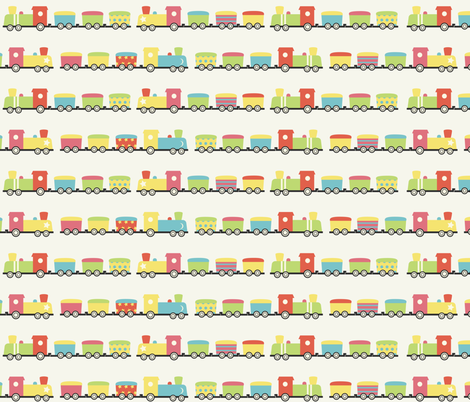 I Want to Be A Train Driver fabric by meredith_watson on Spoonflower - custom fabric
