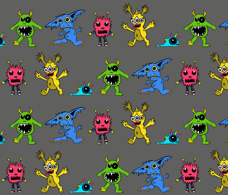 Monsters Mash fabric by thepoonapple on Spoonflower - custom fabric