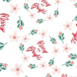Merry and Bright Wreaths on white