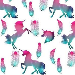 Galaxy Unicorns and Feathers