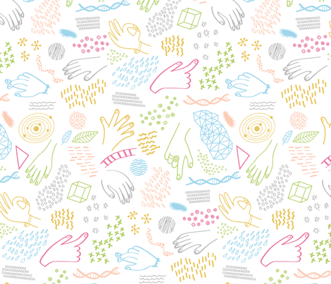 Hands On Science fabric by chris_jorge on Spoonflower - custom fabric